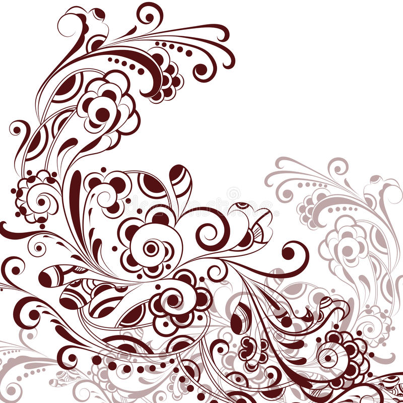 абстрактное флористическое pattern4 иллюстрация штока