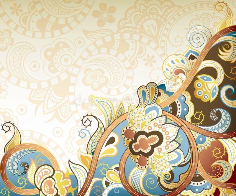 Абстрактное флористическое иллюстрация штока
