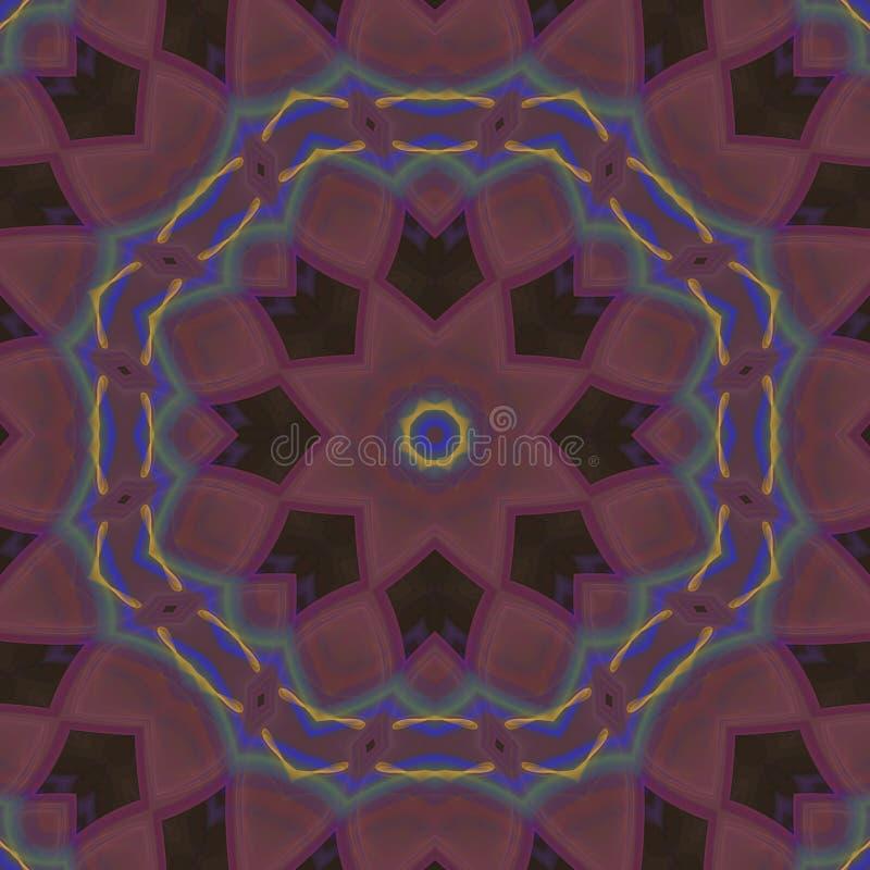 Абстрактное цифровое, мода мандалы моды симметричного дизайна мозаики футуристическая, волшебство, краска стоковые изображения rf