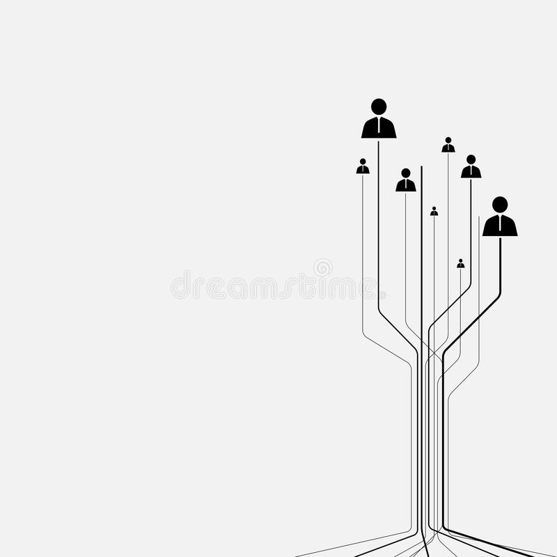 Абстрактное человеческое соединение иллюстрация вектора