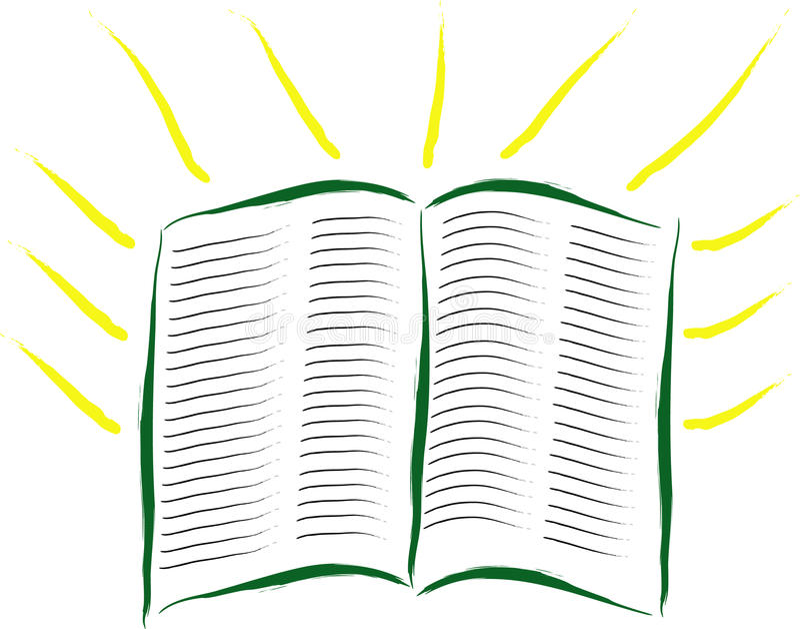абстрактное чтение библии иллюстрация штока