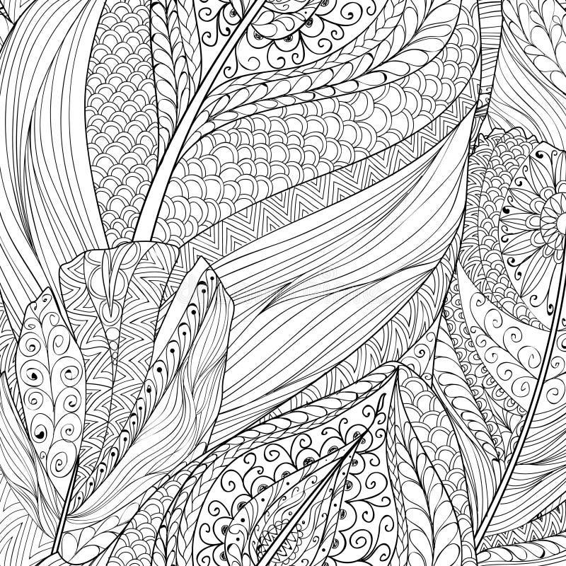 Абстрактное этническое происхождение Ornamental картины пера иллюстрация штока