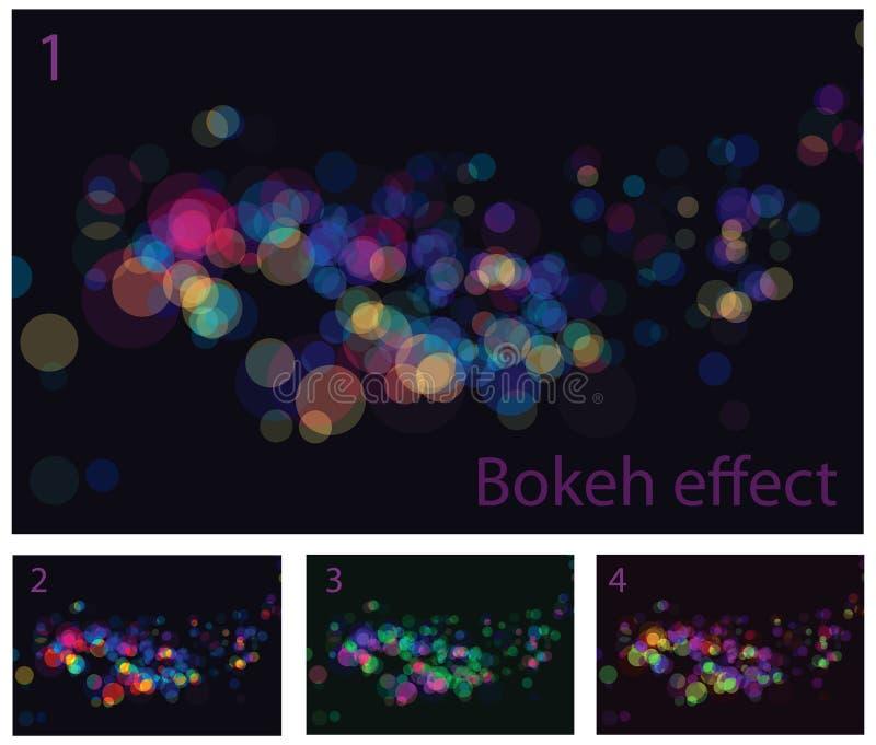 абстрактное bokeh производит эффект света иллюстрация вектора