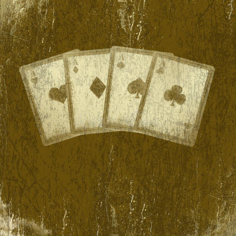 абстрактное grunge карточек предпосылки играя скрест иллюстрация штока