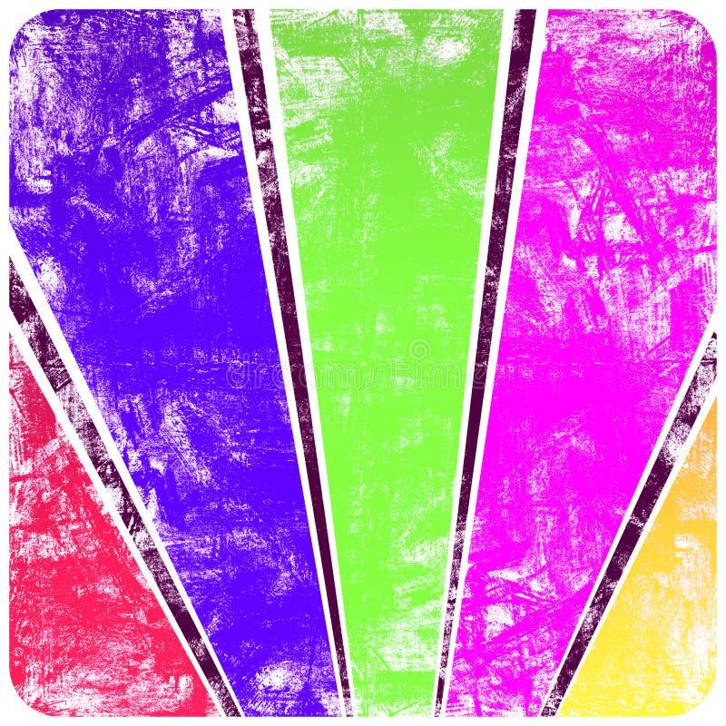 абстрактное grunge рамки излучает стену солнца s бесплатная иллюстрация
