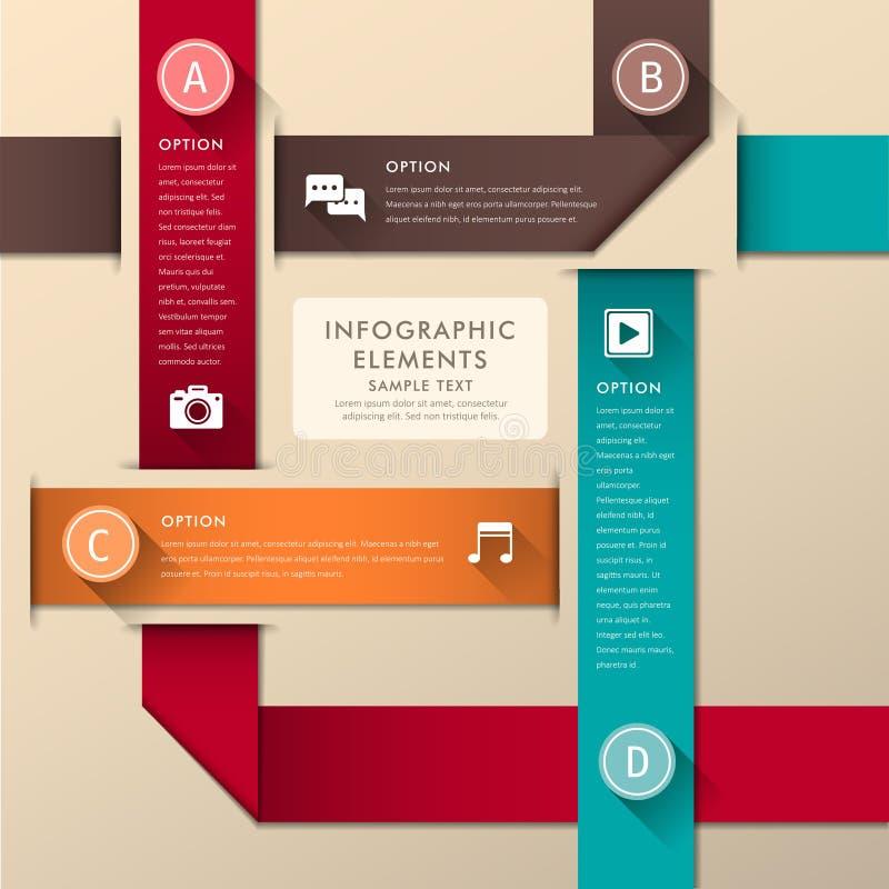 Абстрактное infographics бумаги 3d бесплатная иллюстрация