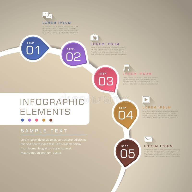 Абстрактное infographics графика течения иллюстрация штока