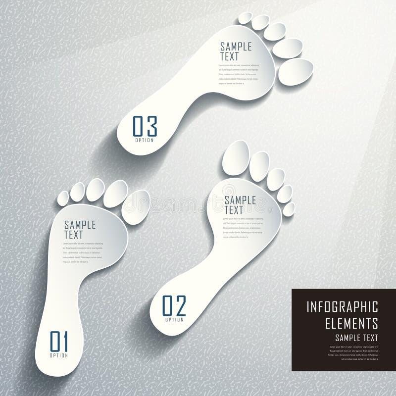 Абстрактное infographics следа ноги 3d иллюстрация вектора