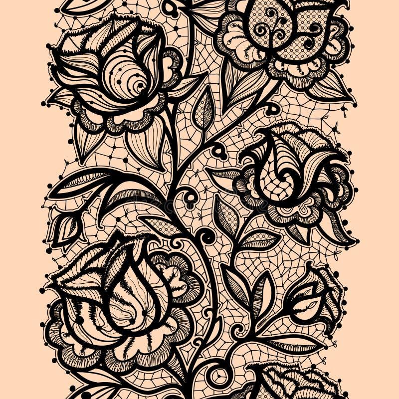 Абстрактное roze ленты шнурка иллюстрация вектора