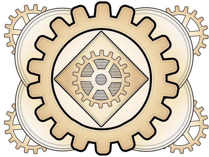абстрактное steampunk орнамента шестерни иллюстрация штока
