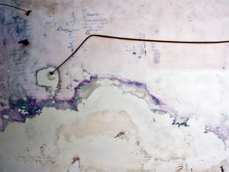 Абстрактной Белый Дом запятнанный картиной представляет стоковые изображения