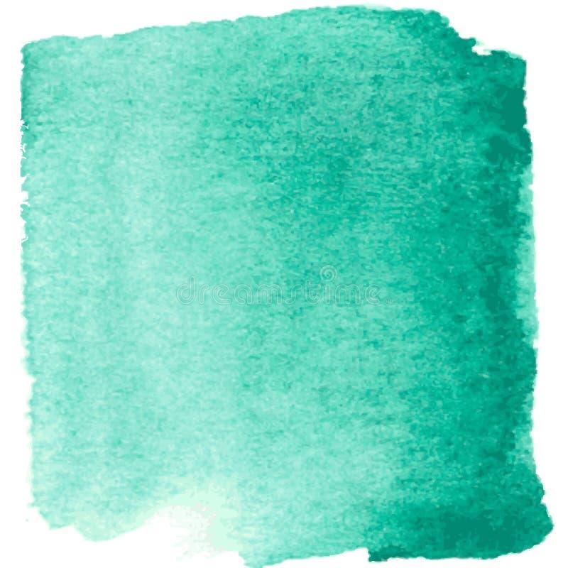 Абстрактной голубой пятно покрашенное акварелью с нашлепками бесплатная иллюстрация