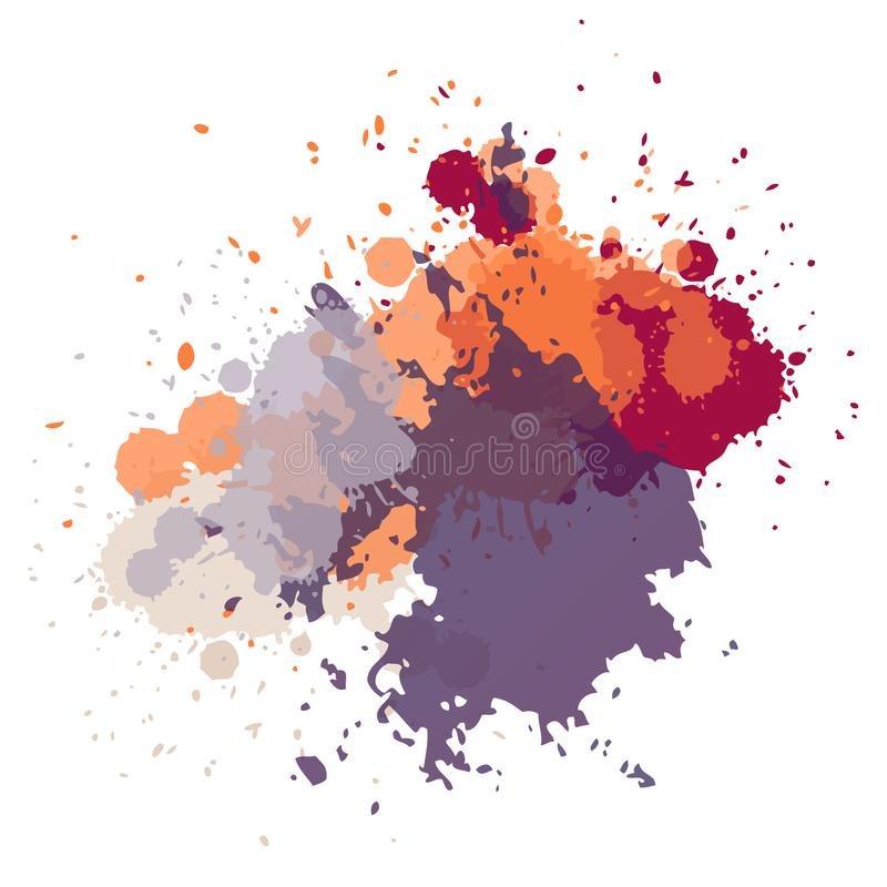 Абстрактной нарисованная рукой предпосылка акрила иллюстрация вектора