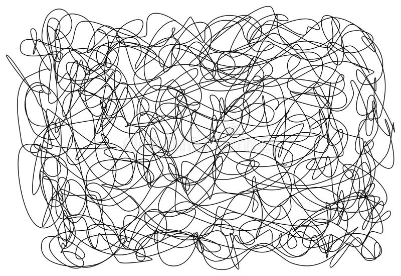 Абстрактной нарисованные рукой хаосы doodle scribble делают по образцу текстуру иллюстрация вектора