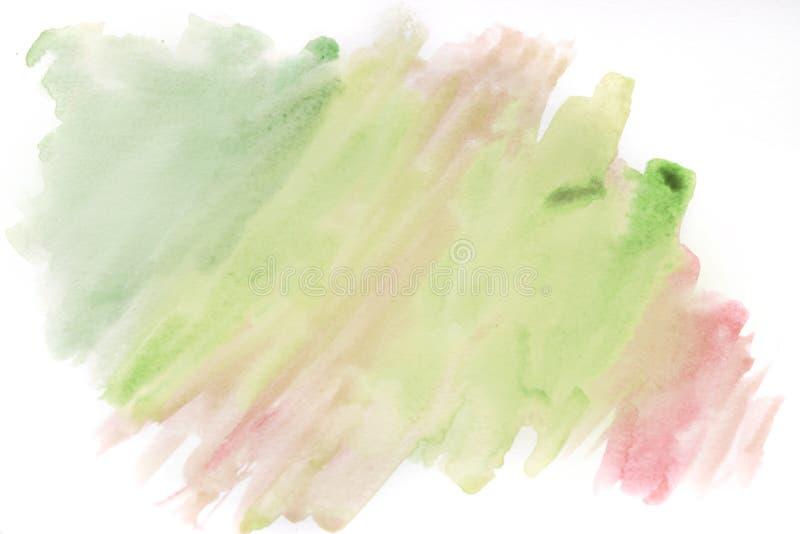 Абстрактной покрашенная рукой предпосылка акварели Акварель предпосылки, пинк, желтый цвет стоковые фотографии rf