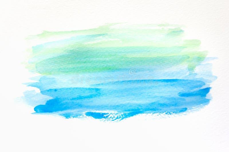 Абстрактной покрашенная рукой предпосылка акварели на бумаге текстура для творческого художественного произведения обоев или диза стоковые фотографии rf