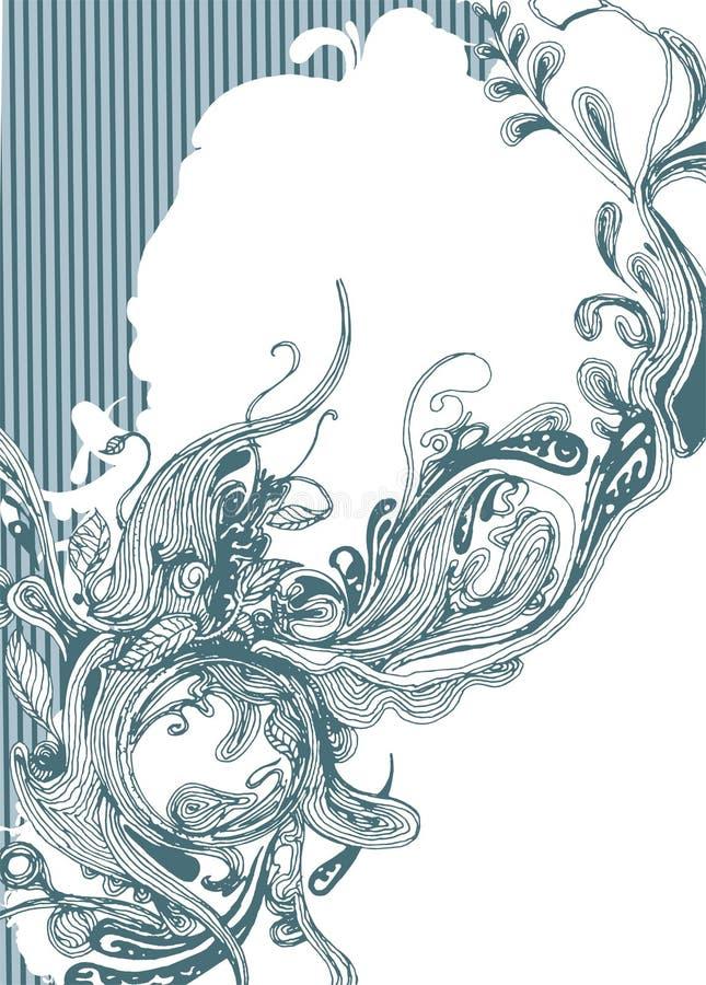 абстрактной рука drawed конструкцией иллюстрация вектора