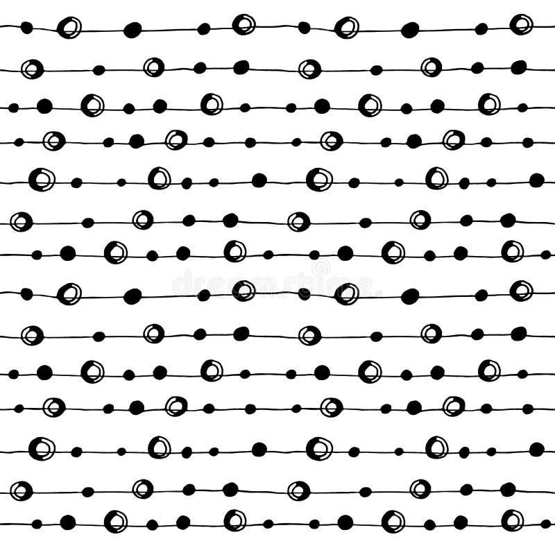 Абстрактной черно-белой картина нарисованная рукой безшовная бесплатная иллюстрация