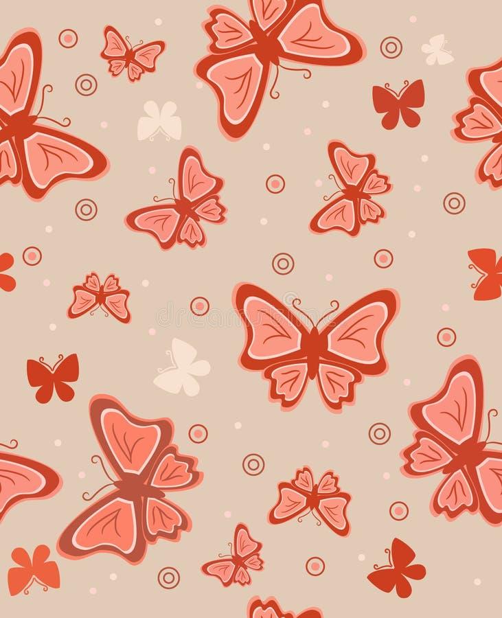 абстрактные бабочки предпосылки иллюстрация штока
