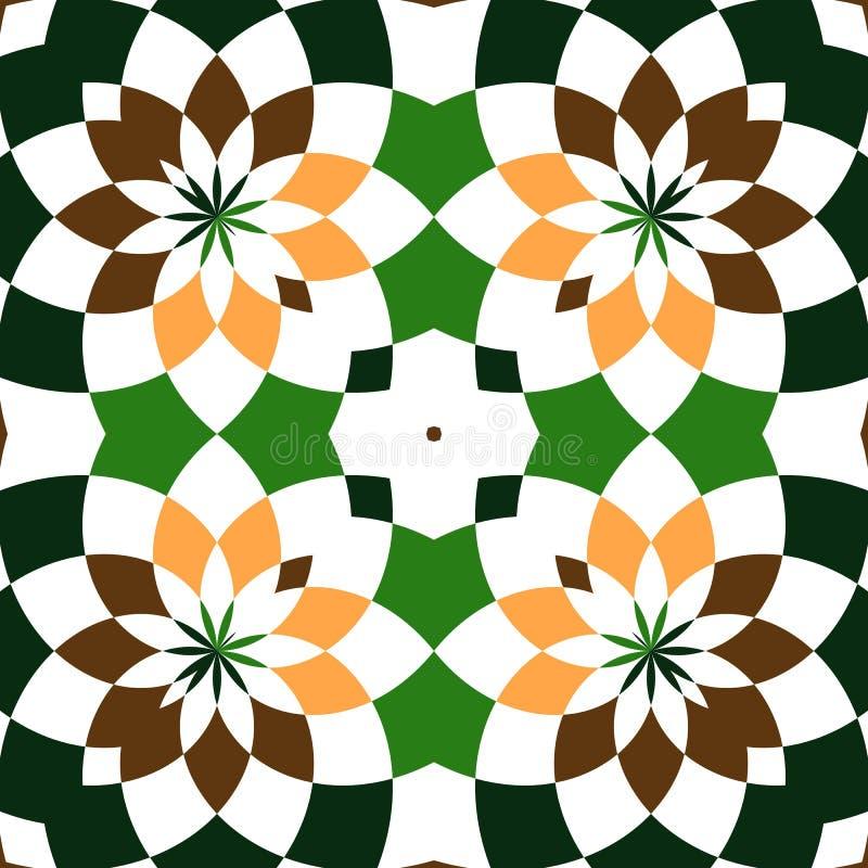 Абстрактные безшовные геометрические картины Калейдоскоп безшовный геометрическая картина иллюстрация штока