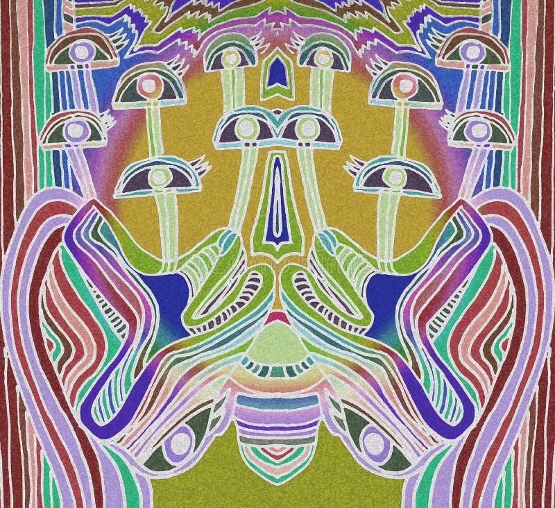 Абстрактные белые глаза Светлые цвета иллюстрация вектора