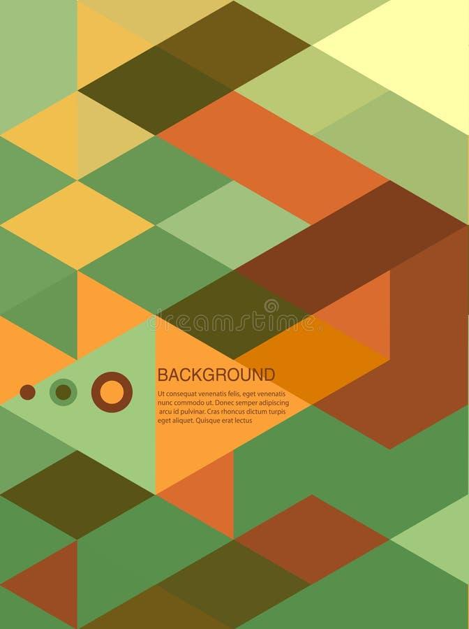 Абстрактные брошюра или знамя мозаики /retro предпосылки иллюстрация вектора