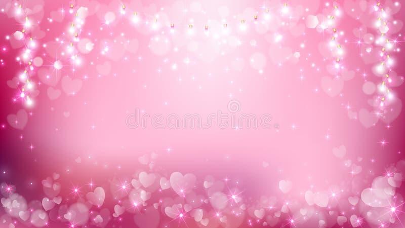 Абстрактные валентинки сердца с пастельной предпосылкой иллюстрация вектора