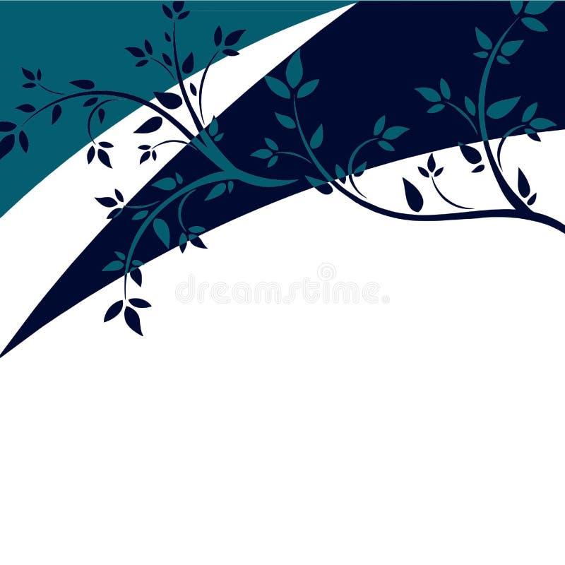 Абстрактные ветви дерева и картина grunge иллюстрация штока
