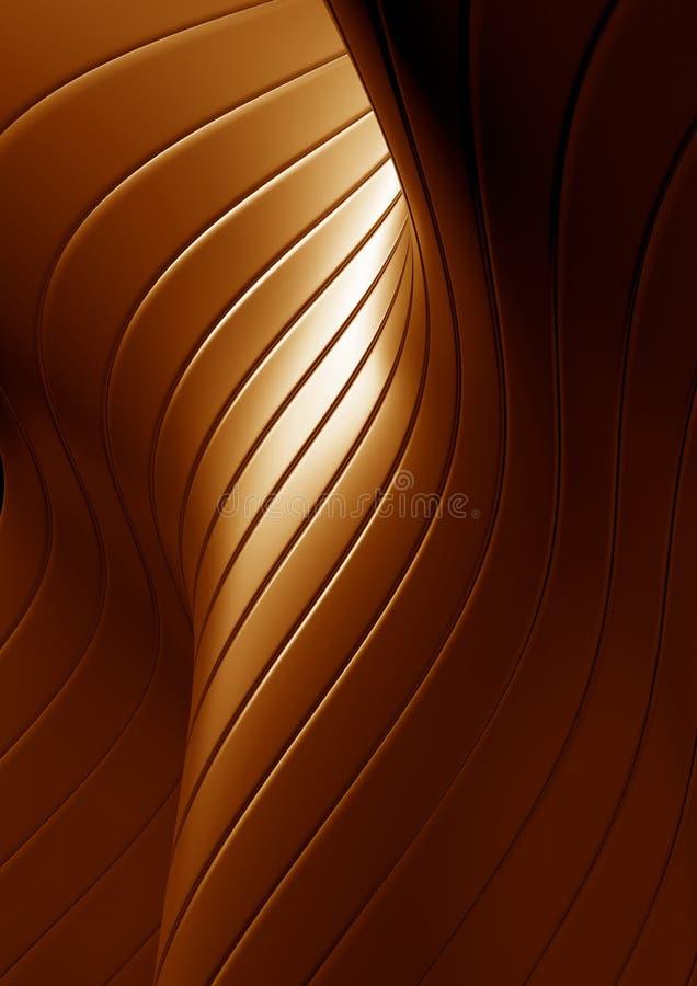 абстрактные волны золота предпосылки иллюстрация штока