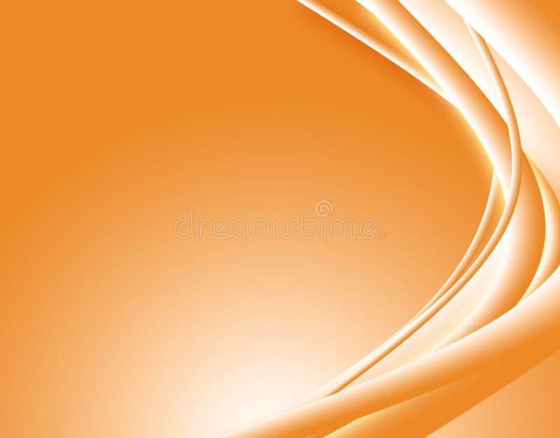 абстрактные волны померанца бесплатная иллюстрация