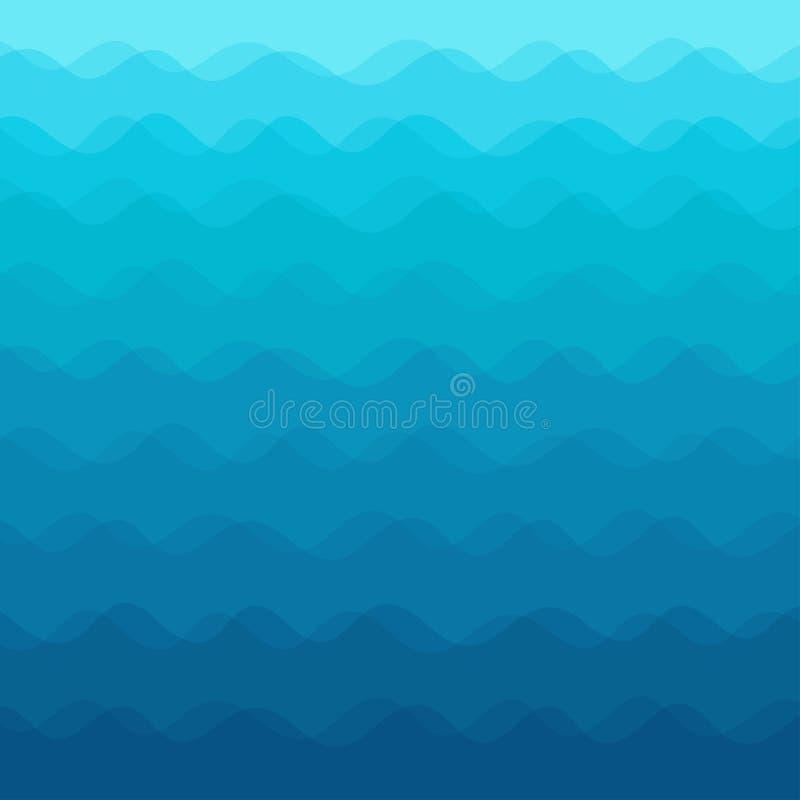 абстрактные волны предпосылки также вектор иллюстрации притяжки corel иллюстрация вектора