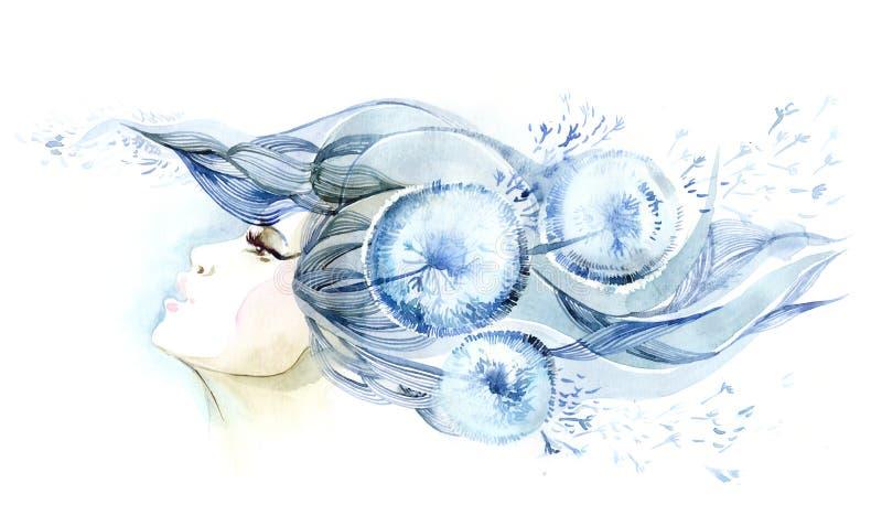 абстрактные волосы иллюстрация вектора