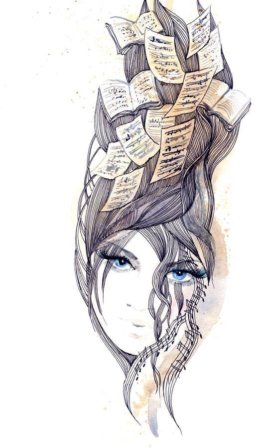 абстрактные волосы иллюстрация штока
