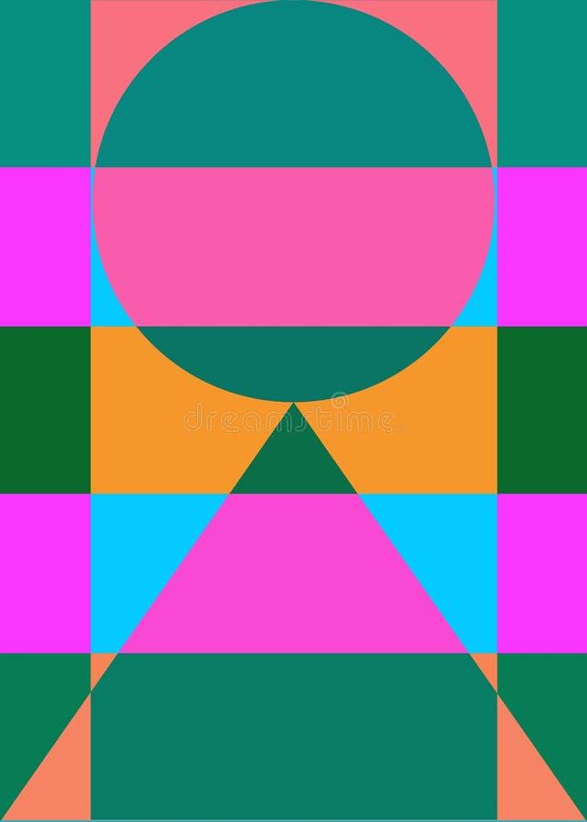 Абстрактные геометрические диаграммы цвета предпосылки иллюстрация штока