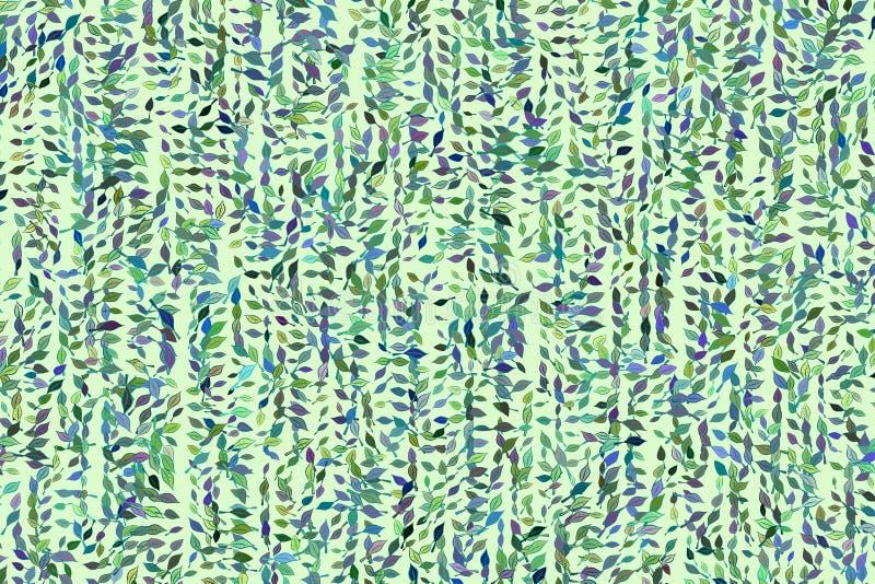 Абстрактные геометрические листья рисуя картину, красочный & художнический для графического дизайна Сеть, влияние, обои & цифрово бесплатная иллюстрация