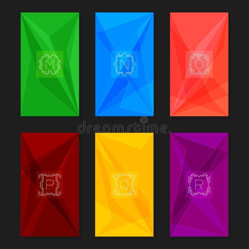 Абстрактные геометрические предпосылки с вензелями Г-Н писем бесплатная иллюстрация