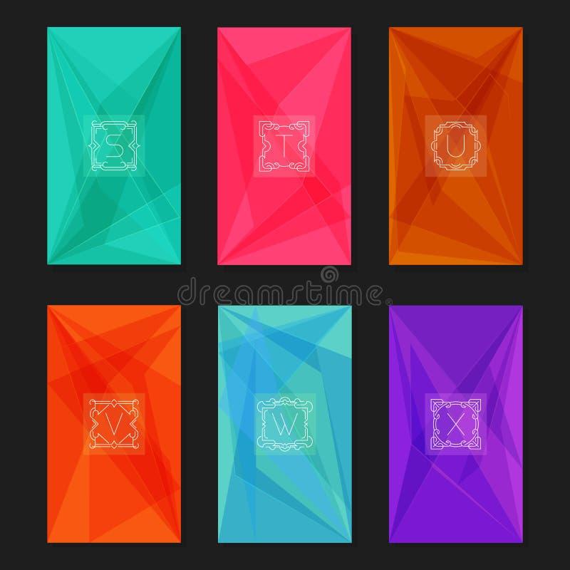 Абстрактные геометрические предпосылки с вензелями Письма S-X бесплатная иллюстрация