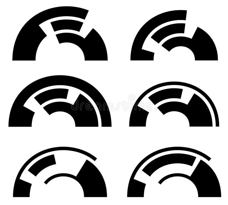 Download Абстрактные геометрические элементы - футуристические составные формы, Hud El Иллюстрация вектора - иллюстрации насчитывающей геометрическо, искажение: 81805347