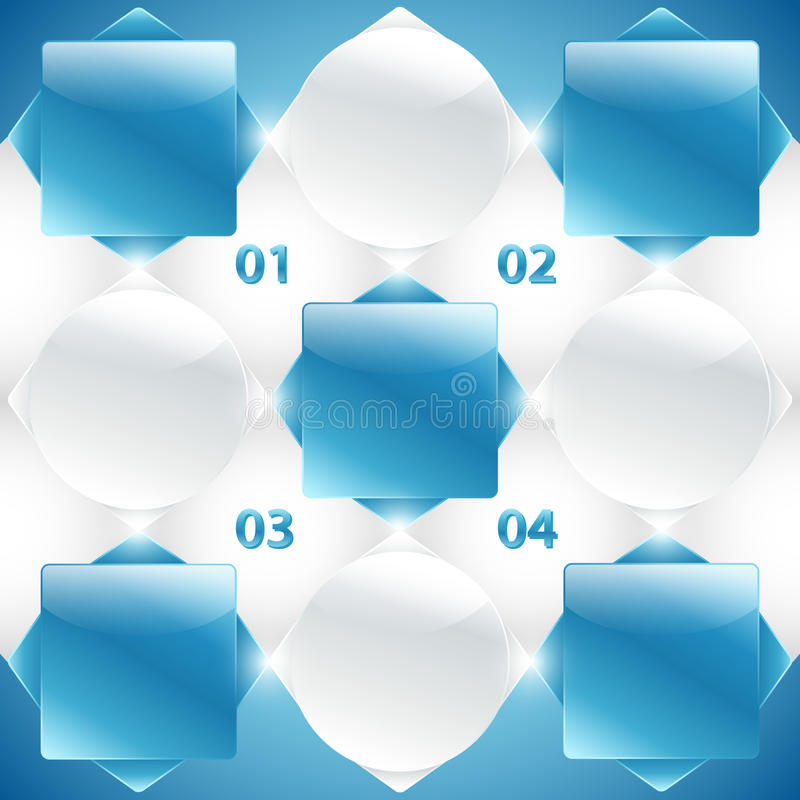 Абстрактные голубые и белые знамена. Вектор иллюстрация вектора