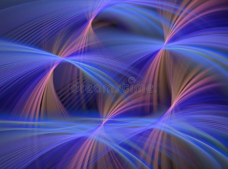 абстрактные голубые фонтаны иллюстрация вектора