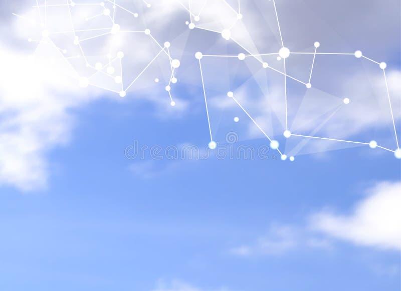 Абстрактные голубые полигоны иллюстрация штока