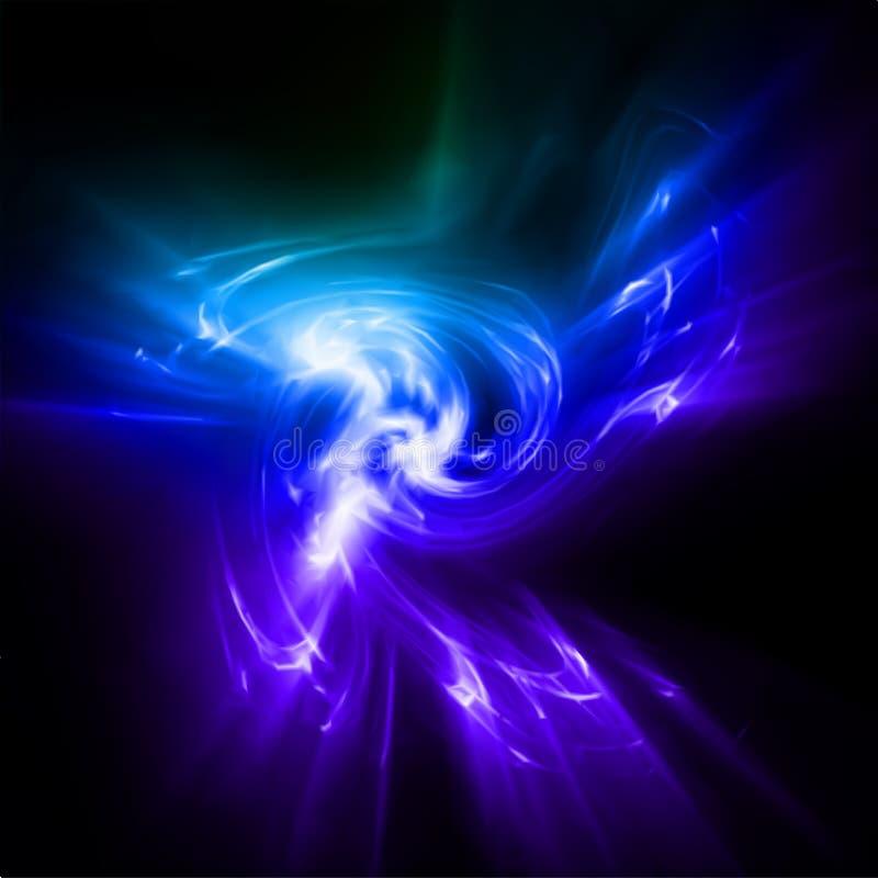 Абстрактные голубые света лучей. Вектор иллюстрация штока