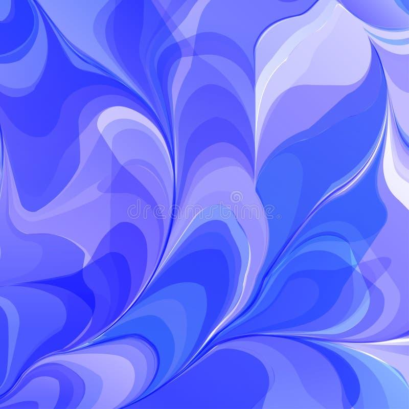 Абстрактные голубые цветки векторов иллюстрация вектора