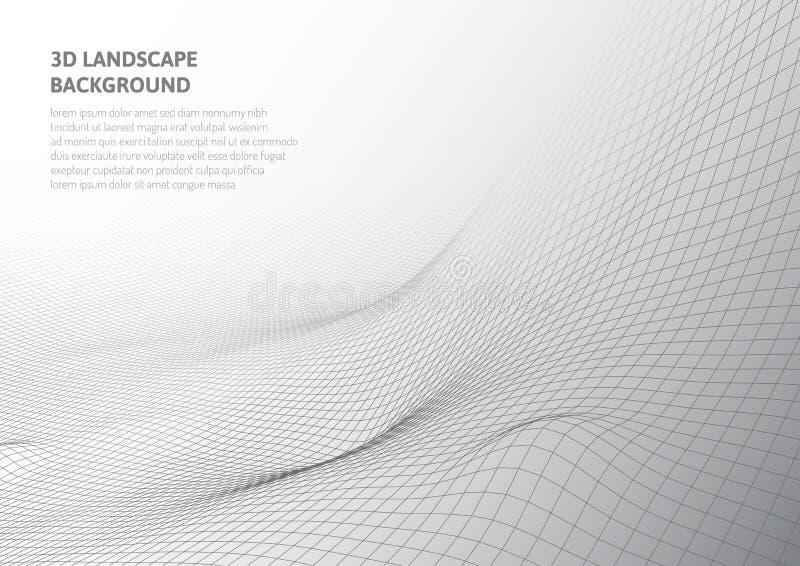 Абстрактные графики 3D Виртуальная реальность и обманы зрения бесплатная иллюстрация