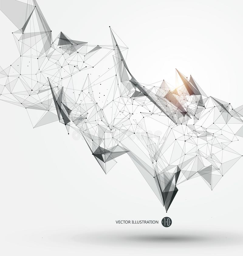 Абстрактные графические состоя из пункты, линии и соединение, технология интернета бесплатная иллюстрация