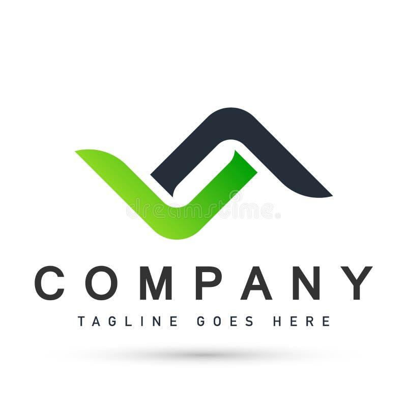 Абстрактные дизайны вектора значка символа логотипа концепции соединения для деловой компании на белой предпосылке иллюстрация вектора