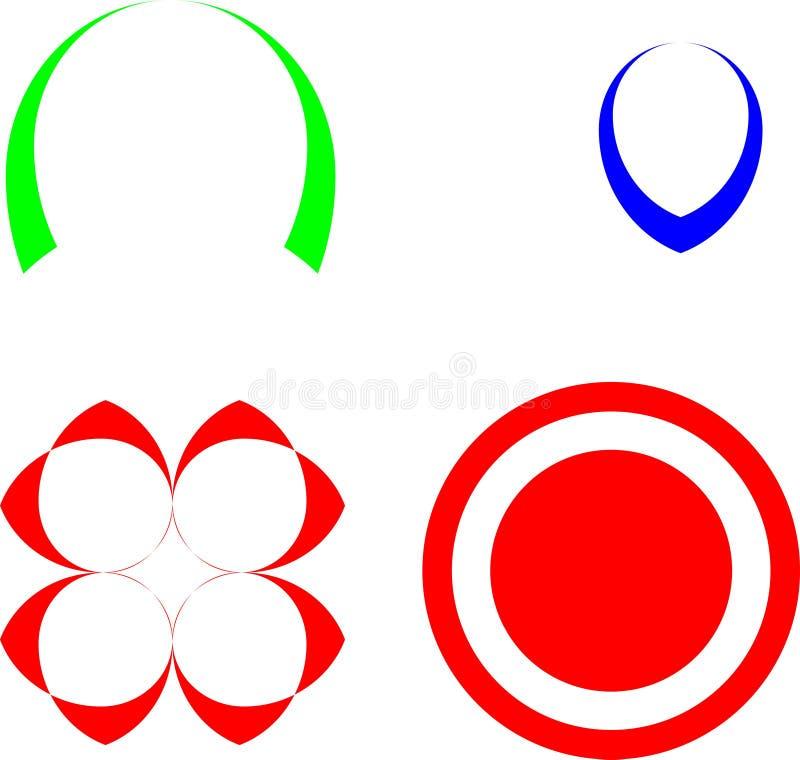 абстрактные дизайн и вектор логотипа иллюстрация вектора
