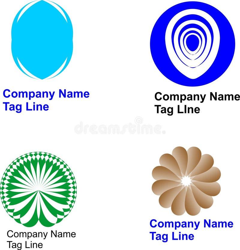 Абстрактные дизайн и вектор логотипа 4 иллюстрация штока