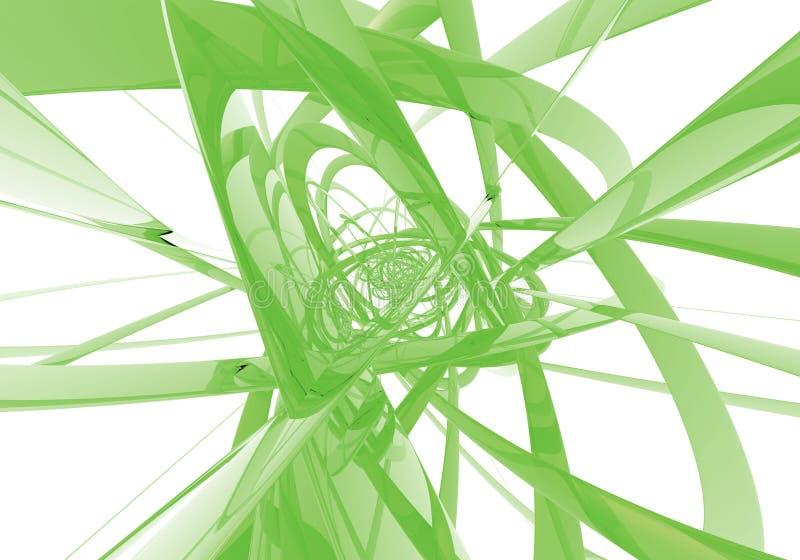 абстрактные зеленые проводы иллюстрация вектора