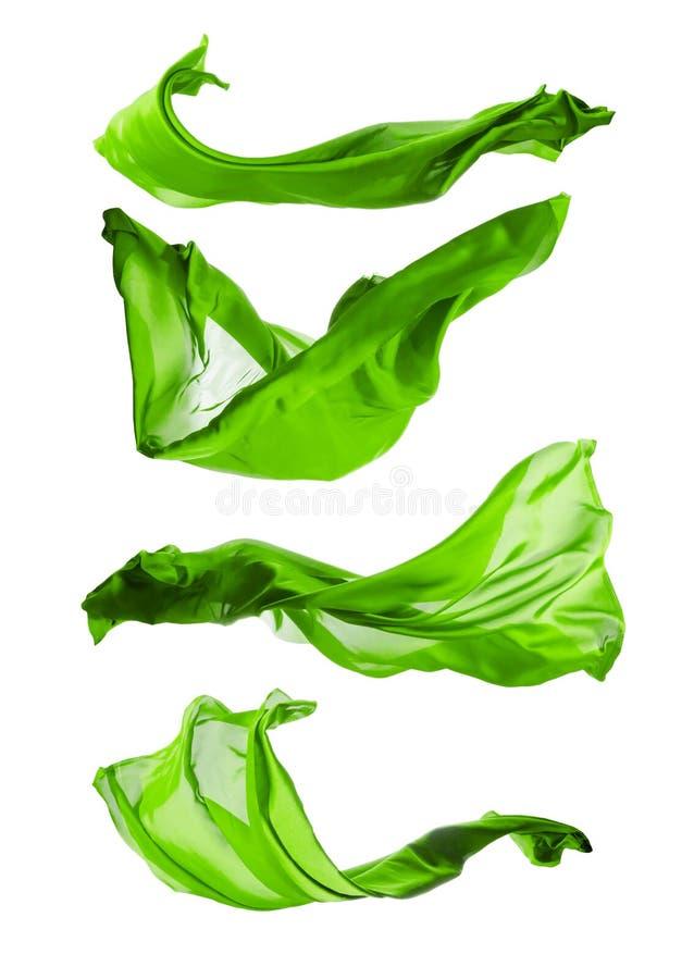Абстрактные зеленые шелка на белой предпосылке стоковая фотография